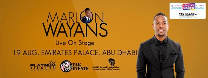Marlon Wayons - Live on Stage (Abu Dhabi) - Tour