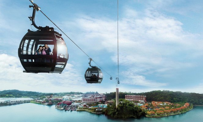 Sentosa Sunset Island (Cable Car, Madame Tussaud, WOT, IOS), Sightseeing in Singapore - Tour