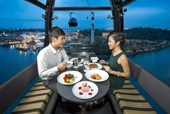 Private Dinner in Cable Car, Honeymoon Specials in Singapore - Tour